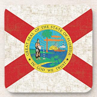 FLORIDA FLAG AGED Coaster Set