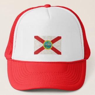 FLORIDA FLAG AGED TRUCKER HAT