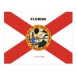 Florida Flag and Slogan Postcards