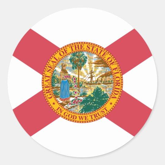 Florida Flag Classic Round Sticker