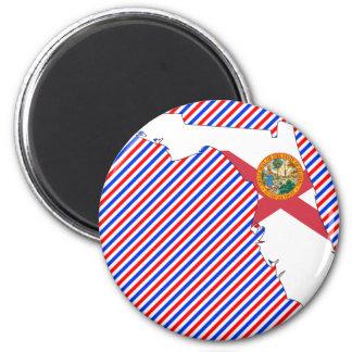 Florida Flag Map Magnet