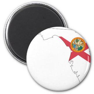 Florida Flag Map Magnets