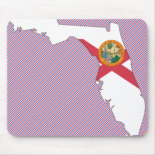 Florida Flag Map Mouse Pad