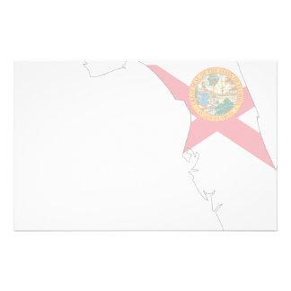 Florida Flag Map Customized Stationery