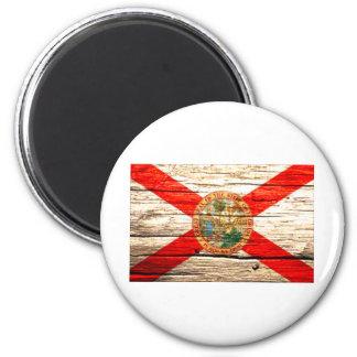 Florida Flag old wood Magnet