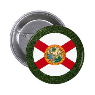 Florida Flag on Grass 2 Inch Round Button
