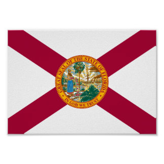 Florida Flag Poster