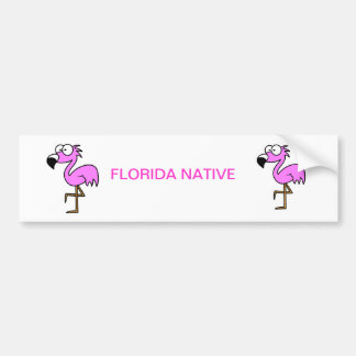 Florida Flamingo Bumper Sticker
