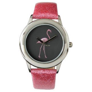 Florida Flamingo Glitter Strape WatchFactory Watch
