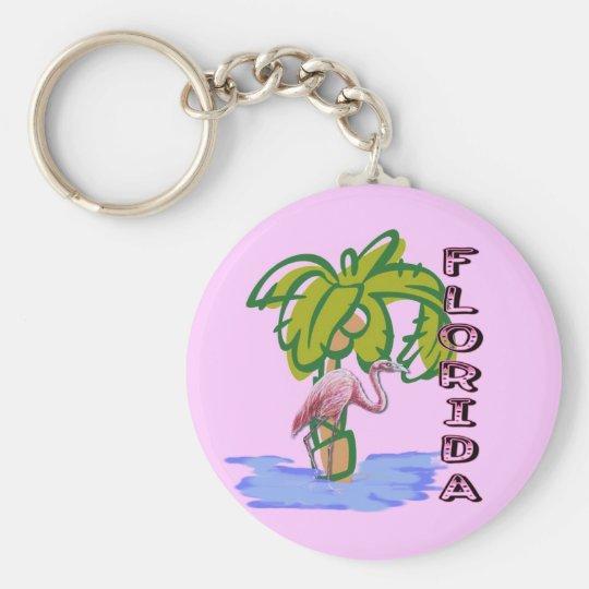 Florida Flamingo Keychain
