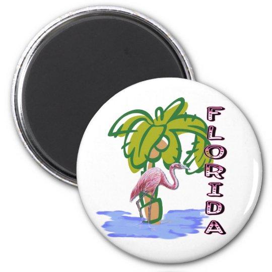 Florida Flamingo Magnet