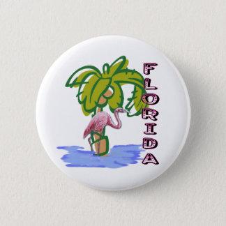 Florida Flamingo Pinback Button