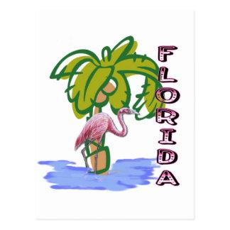 Florida Flamingo Postcard
