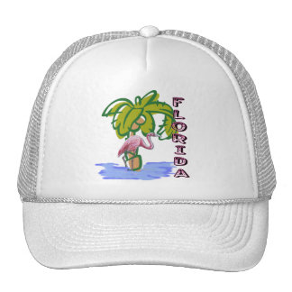 Florida Flamingo Trucker Hat