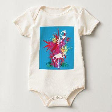 Beach Themed Florida Flamingos Baby Bodysuit