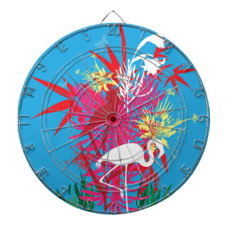 Florida Flamingos Dartboard With Darts