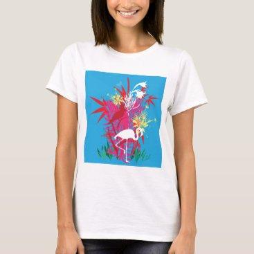 Beach Themed Florida Flamingos T-Shirt