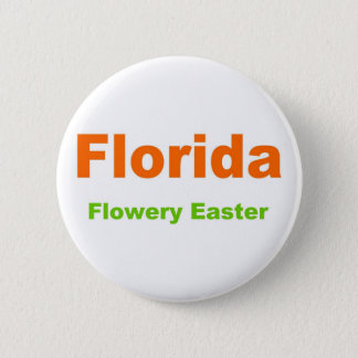 Florida-Flowery Easter Button