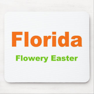Florida-Flowery Easter Mouse Pad