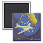 Florida ~ Fly South 2 Inch Square Magnet