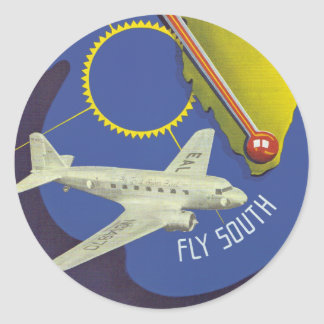 Florida ~ Fly South Round Stickers