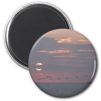 Florida Flyby 2 Inch Round Magnet