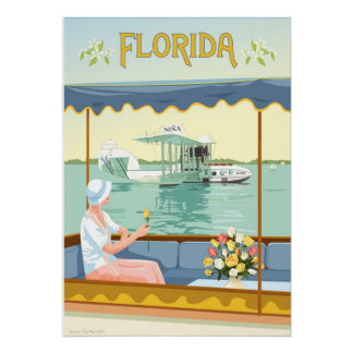 Florida Flying Boat by Rosie Louise Poster