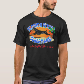 Florida Flying Dobermans Black Dobe T-Shirt
