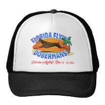 Florida Flying Dobermans Red Dobe Trucker Hat