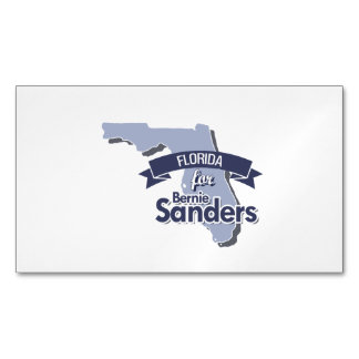 Florida for Bernie Sanders Magnetic Business Cards (Pack Of 25)