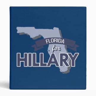 FLORIDA FOR HILLARY 3 RING BINDER