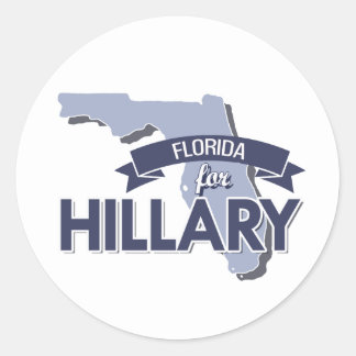 FLORIDA FOR HILLARY - png Round Sticker