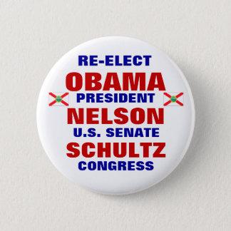 Florida for Obama Nelson Schultz Pinback Button