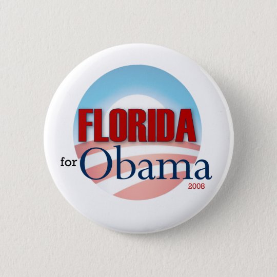 Florida for Obama Pinback Button