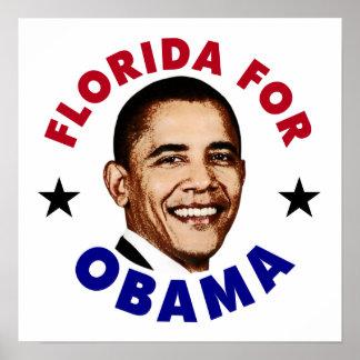 Florida For Obama Poster