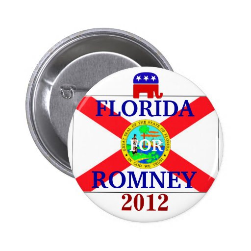 Florida for Romney 2012 2 Inch Round Button