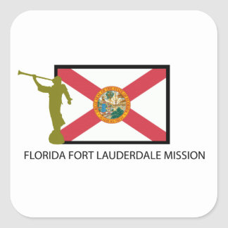 FLORIDA FORT LAUDERDALE MISSION LDS CTR SQUARE STICKER