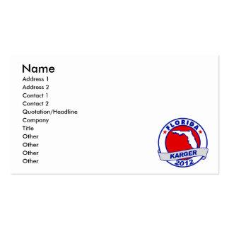 Florida Fred Karger Business Card