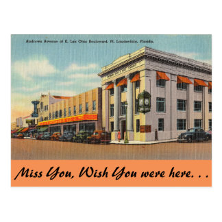 Florida, Ft. Lauderdale, Andrews Ave. at Las Olas Postcards