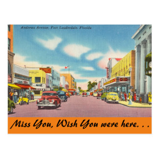Florida, Ft. Lauderdale, Andrews Ave. Post Cards