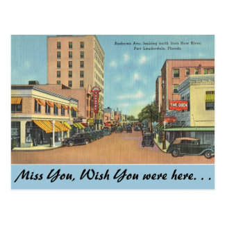 Florida, Ft. Lauderdale, Andrews Ave. Post Card