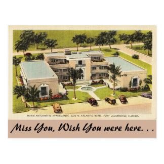 Florida, Ft. Lauderdale, Apartments Atlantic Blvd. Postcard