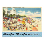 vintage, post card, travel, ft. lauderdale,