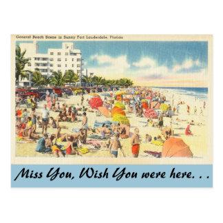 Florida, Ft. Lauderdale  Beach Post Cards