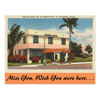Florida, Ft. Lauderdale, Maxwell Hotel Post Cards