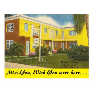 Florida, Ft. Lauderdale, Morton Motel Postcard