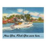 Florida, Ft. Lauderdale, New River Postcard