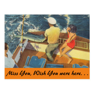 Florida, Ft. Lauderdale, Sailfishing Postcard