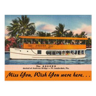Florida, Ft. Lauderdale, Tour Boat Post Card