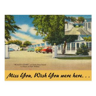 Florida, Ft. Walton, 98 Auto Court Postcard